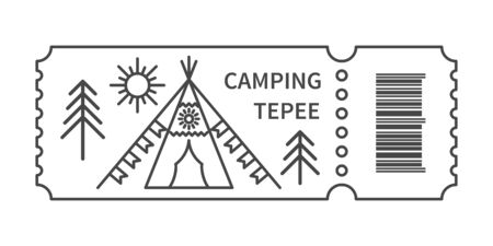 Ticket with barcode with Tepee