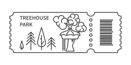 Ticket with barcode and Treehouse