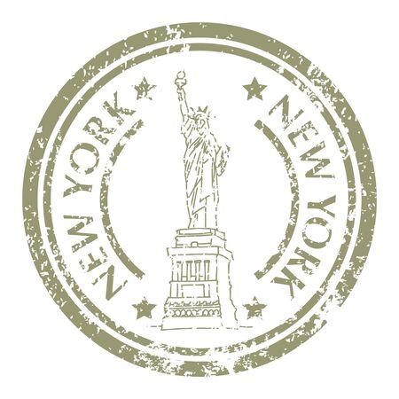 Freiheitsstatue auf Briefmarke