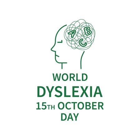 Line logo of Dyslexia Day