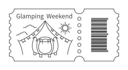 Ticket with barcode and Tent