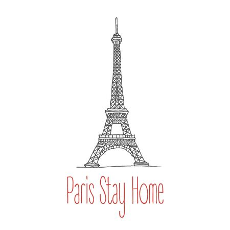 Stay home poster for Paris