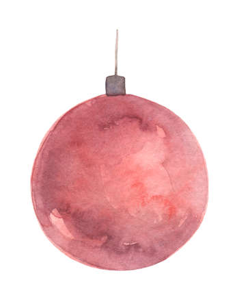 Watercolor red ball