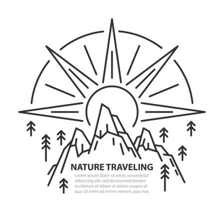 Nature line template