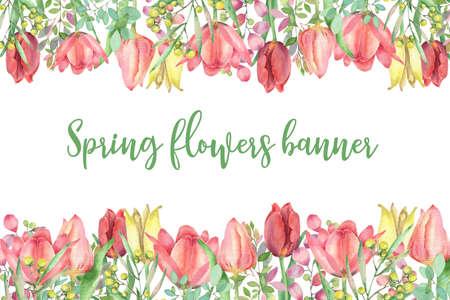 Spring flower template Imagens