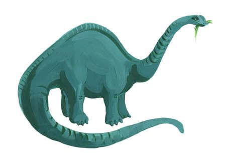 Hand drawn acrylic brachiosaurus Zdjęcie Seryjne