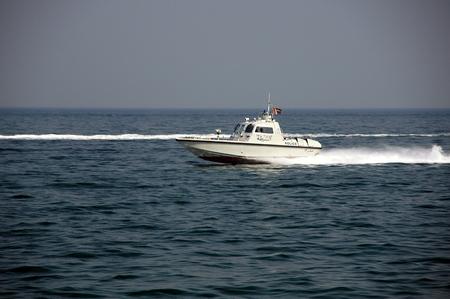 musandam: police boat off oman coast, musandam Editorial