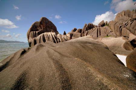 la digue: Seychelles, La digue Stock Photo