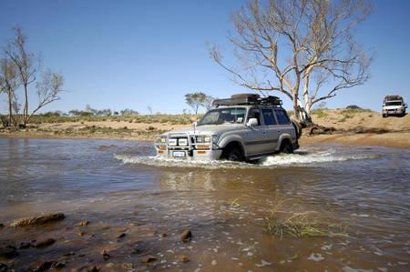 aerea: offroad in Rudall River aerea, western australia
