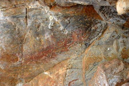 rock painting: aboriginal rock painting