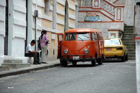 vw: vintage VW T1 Bulli Editorial