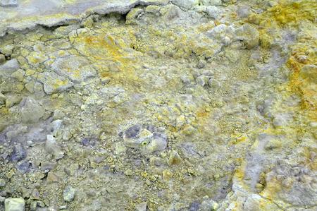 vulcano: sulphur spring in vulcano