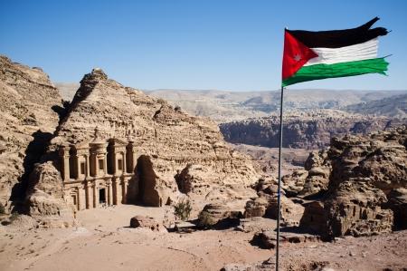 petra  jordan: remains of an ancient temple in Petra, Jordan Stock Photo