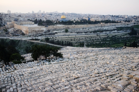 View of Jerusalem from mountain of Olives,  Israel  photo