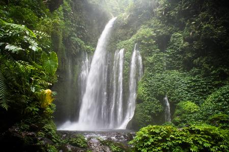 lombok: Air Terjun Tiu Kelep waterfall, Senaru, Lombok, Indonesia, Southeast Asia, Asia