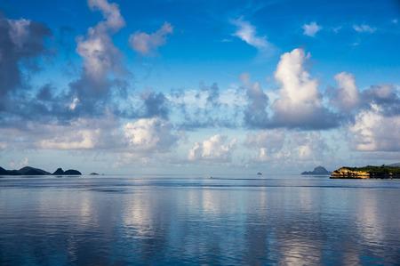 komodo island:  Sunrise landscape of Komodo island, Indonesia