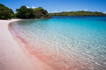 Sunny day on Pink Beach in Komodo National Park