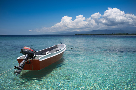 Boats moored at Gili Air, of Lombok, Indonesia, Asia