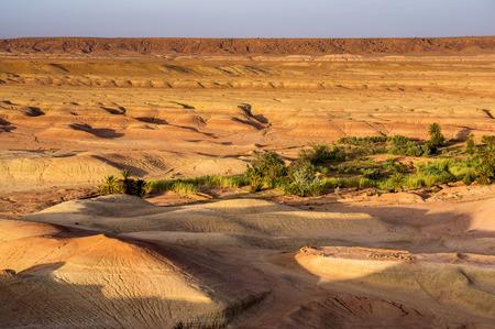 dawns: view from Ait Benhaddou Kasbah on desert, Morocco, High Atlas Mountains, ksar Ait Benhaddou, Ouarzazate Province, Souss-Massa-Draâ region, Morocco, Africa,