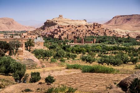 dawns: Ait Benhaddou Kasbah at dawn, Morocco, High Atlas Mountains, ksar Ait Benhaddou, Ouarzazate Province, Souss-Massa-Draâ region, Morocco, Africa, Stock Photo