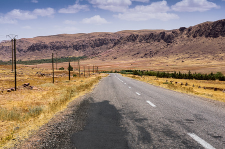 flatly: Highway in the High Atlas, Morocco, Africa
