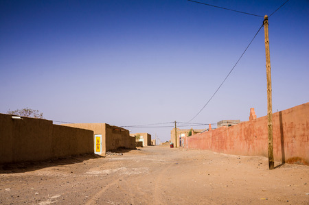 merzouga: The village of Merzouga in eastern Morocco  Stock Photo