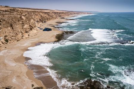 plage: beautiful Atlantic coastline at Legzira Plage near Sidi Ifni, Morocco