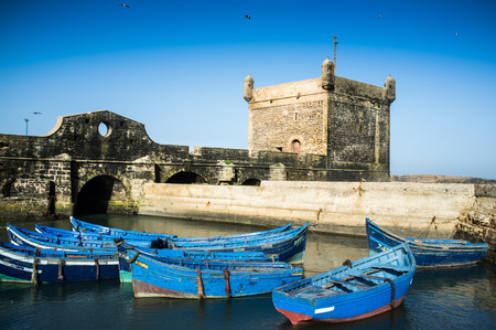 marocco: Small boats in the harbour of Essaouira Morocco