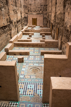 Original Mosaic Floor at El Badi Palace in Marrakech, North Africa