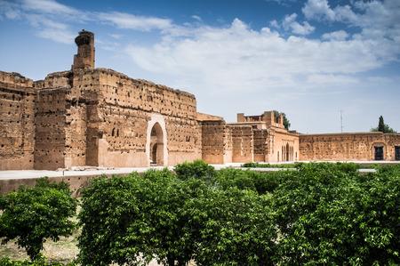 Ruins of the El Badi Palace, Marrakech (Marrakesh), Morocco, North Africa Stockfoto