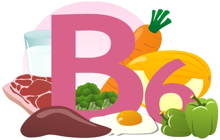 The products containing vitamin B6