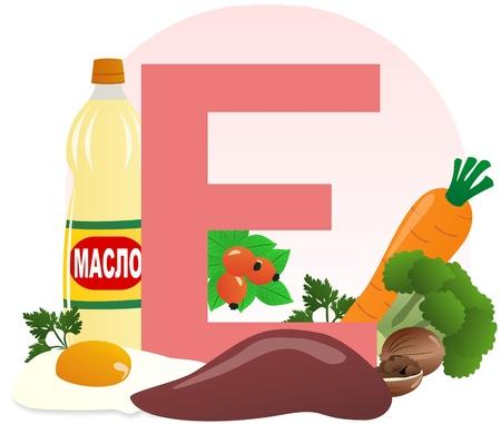The food containing vitamin E