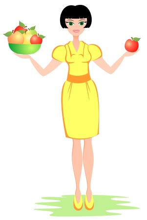 harmonous: The woman advises to eat healthy food