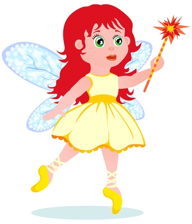 execute: The small fairy on a white background