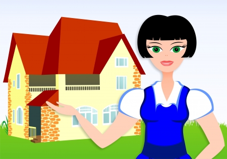 The woman wants to buy the new house Stock Photo - 17373620