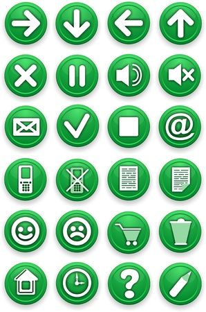 sound off: Set of icons  Pictograms of green color