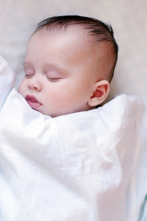Sleeping baby (3,5 months)  Stock Photo - 17406015