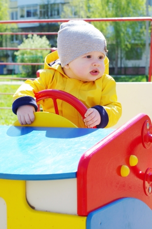 baby age of 8 months on playground Stock Photo - 19671488