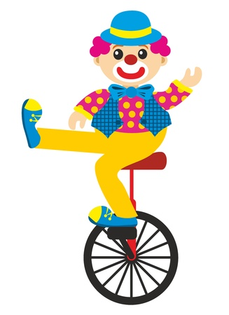 goes: clown goes by bicycle