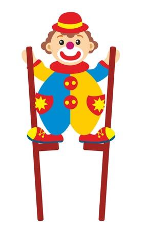 clown on stilts