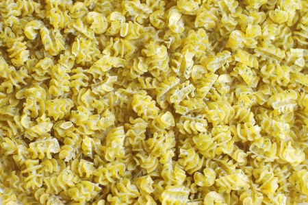dry pasta with parsley