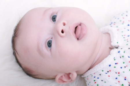 portrait of baby age of 3 months Stock Photo