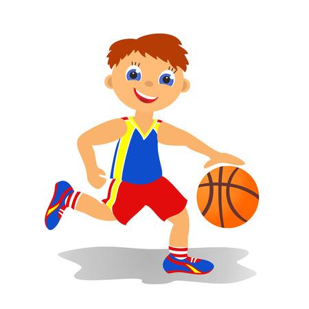 Sport dzieci latem Boy Basketballer Zdjęcie Seryjne - 24680899