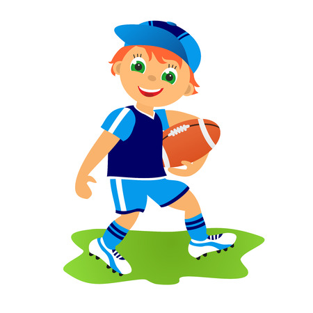 rugger: Childrens sport in summertime  Rugby footbal