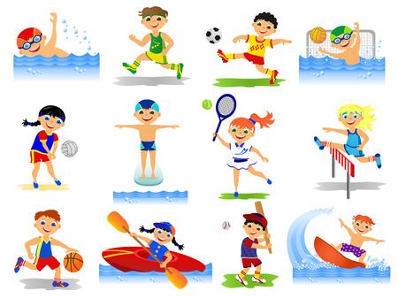 nadar: Childrens deporte en verano