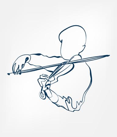 hands violin sketch line vector design isolated Vektoros illusztráció