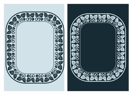 art nouveau vector frame vector pair line Zdjęcie Seryjne - 122980389