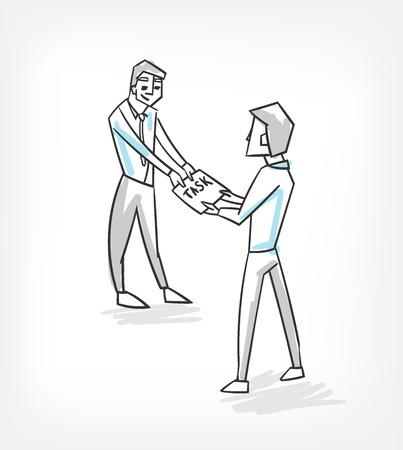management delegation outsourcing vector illustration Vetores