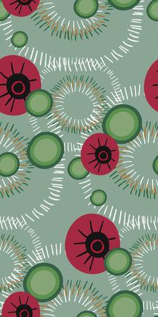 vector modern seamless floral pattern scandinavian 向量圖像