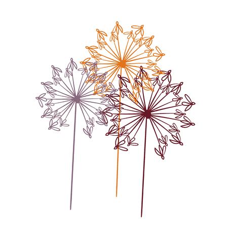 floral vector stylized design formal composition scandinavian 向量圖像